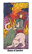 Queen of Torches Tarot card in Cosmic Slumber deck
