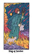 King of Torches Tarot card in Cosmic Slumber deck