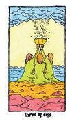 Three of Cups Tarot card in Cosmic Slumber deck