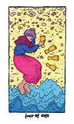 Four of Cups Tarot card in Cosmic Slumber deck