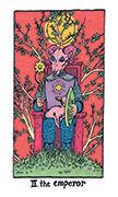 The Emperor Tarot card in Cosmic Slumber deck