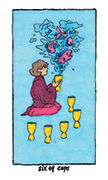 Six of Cups Tarot card in Cosmic Slumber deck