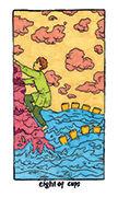 Eight of Cups Tarot card in Cosmic Slumber deck