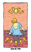 Nine of Cups Tarot card in Cosmic Slumber deck