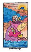 Page of Cups Tarot card in Cosmic Slumber deck