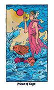 Knight of Cups Tarot card in Cosmic Slumber deck