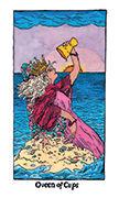 Queen of Cups Tarot card in Cosmic Slumber deck