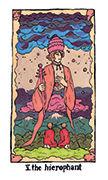 The Hierophant Tarot card in Cosmic Slumber deck