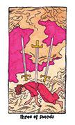 Three of Swords Tarot card in Cosmic Slumber deck