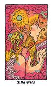 The Lovers Tarot card in Cosmic Slumber deck