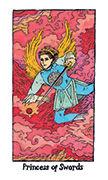 Page of Swords Tarot card in Cosmic Slumber deck