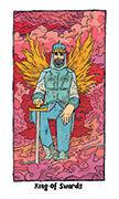King of Swords Tarot card in Cosmic Slumber deck