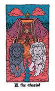 The Chariot Tarot card in Cosmic Slumber deck