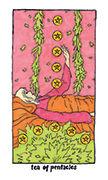 Ten of Pentacles Tarot card in Cosmic Slumber deck