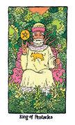 King of Pentacles Tarot card in Cosmic Slumber deck