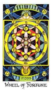 Wheel of Fortune Tarot Card - Cosmic Tarot Deck