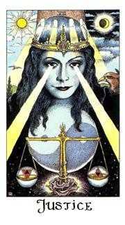Justice Tarot Card - Cosmic Tarot Deck