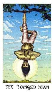 The Hanged Man Tarot Card - Cosmic Tarot Deck