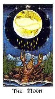The Moon Tarot Card - Cosmic Tarot Deck