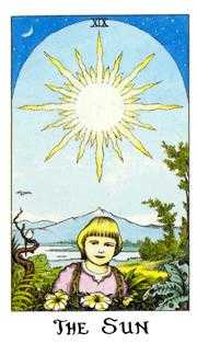 The Sun Tarot Card - Cosmic Tarot Deck