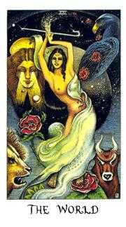 The World Tarot Card - Cosmic Tarot Deck