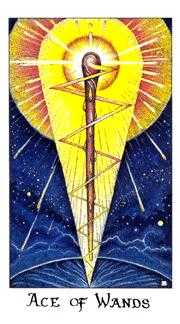 Ace of Rods Tarot Card - Cosmic Tarot Deck