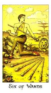 Six of Wands Tarot Card - Cosmic Tarot Deck