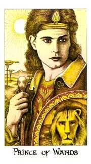 Prince of Staves Tarot Card - Cosmic Tarot Deck