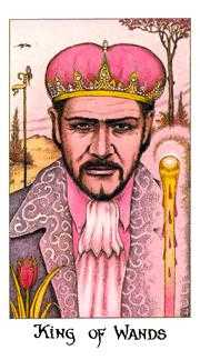 King of Staves Tarot Card - Cosmic Tarot Deck