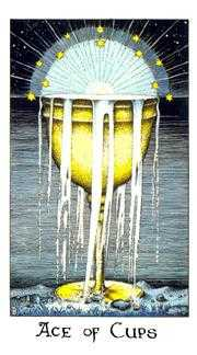 Ace of Cups Tarot Card - Cosmic Tarot Deck