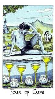 Four of Cups Tarot Card - Cosmic Tarot Deck