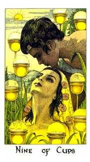 Nine of Cups Tarot Card - Cosmic Tarot Deck