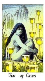 Ten of Cups Tarot Card - Cosmic Tarot Deck