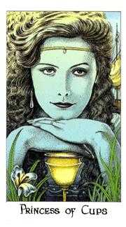 Princess of Hearts Tarot Card - Cosmic Tarot Deck