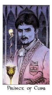 Prince of Hearts Tarot Card - Cosmic Tarot Deck