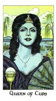 Queen of Bowls Tarot Card - Cosmic Tarot Deck