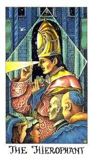 The High Priest Tarot Card - Cosmic Tarot Deck