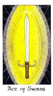 Ace of Swords Tarot Card - Cosmic Tarot Deck