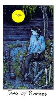 Two of Swords Tarot Card - Cosmic Tarot Deck