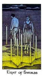Eight of Arrows Tarot Card - Cosmic Tarot Deck