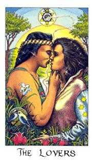 The Lovers Tarot Card - Cosmic Tarot Deck