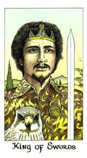 Roi of Swords Tarot Card - Cosmic Tarot Deck