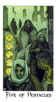 Five of Pentacles Tarot Card - Cosmic Tarot Deck