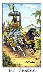 The Chariot Tarot Card - Cosmic Tarot Deck