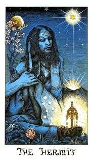 The Hermit Tarot Card - Cosmic Tarot Deck