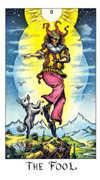 The Fool Tarot card in Cosmic Tarot deck
