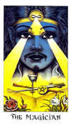 The Magician Tarot card in Cosmic Tarot deck