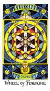 Wheel of Fortune Tarot card in Cosmic Tarot deck