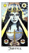 Justice Tarot card in Cosmic Tarot deck