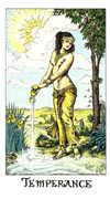 Temperance Tarot card in Cosmic deck